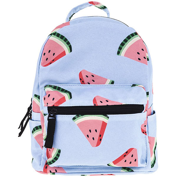 Watermelon Polyester Mini Backpacks for Women