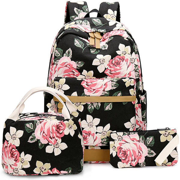 Casual Trip Rose Backpack for Teens