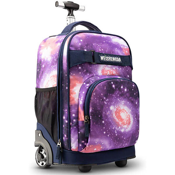 Purple Rolling Backpack for Adults