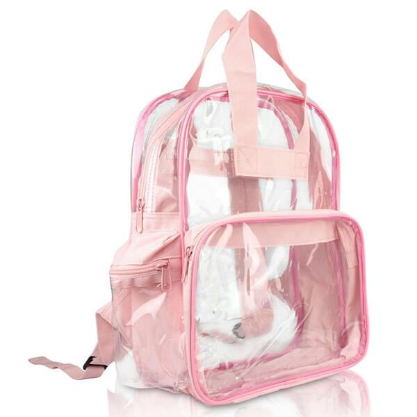 Light Pink Clear Backpacks for Girls