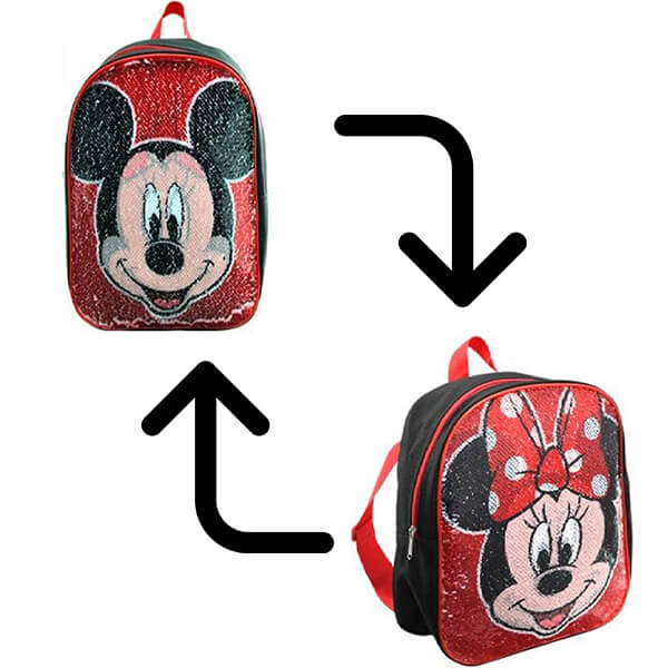 Mickey-Minnie Reversible Sequin Backpack