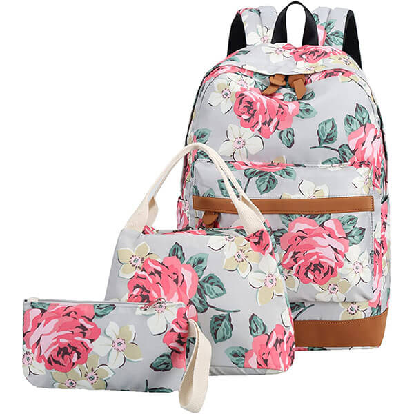 Multipurpose School Backpack with Roses