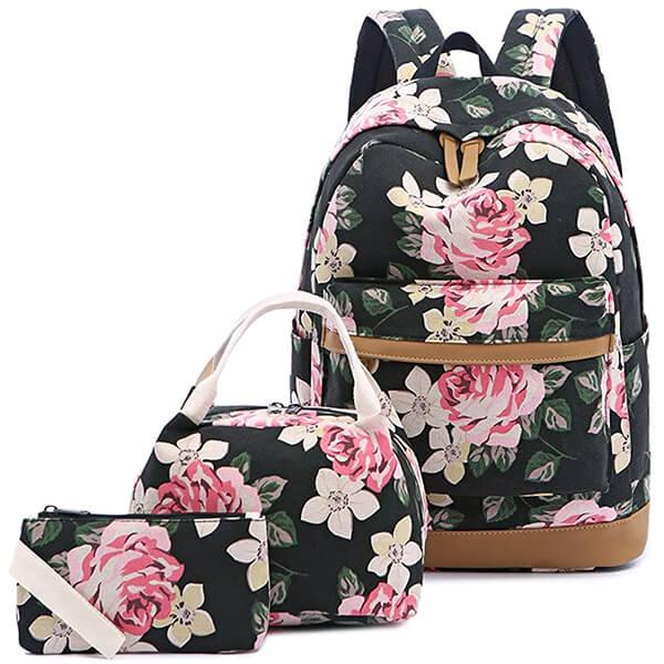 Black-Pink Floral Print 15