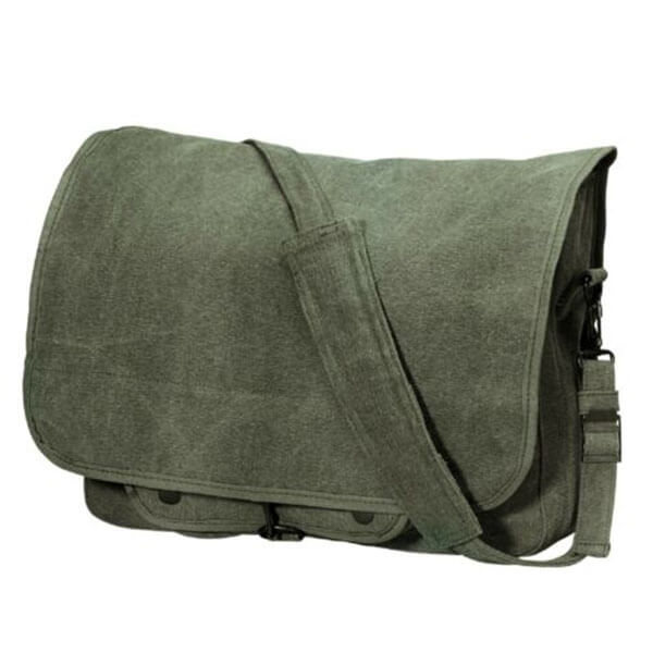 Classic Canvas Cotton Messenger Bag