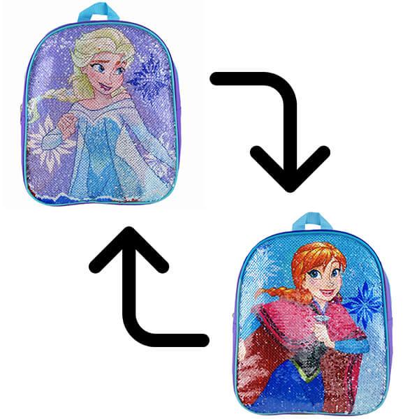 Frozen Elsa-Anna Reversible Sequin Bookbag