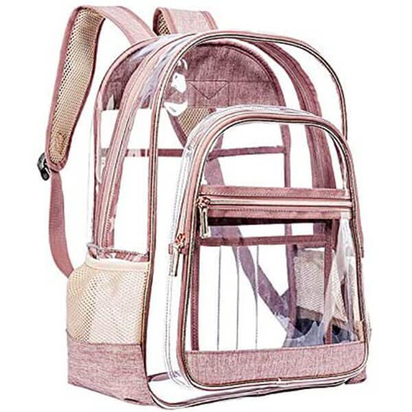 Rose Gold Heavy Duty PVC Backpack