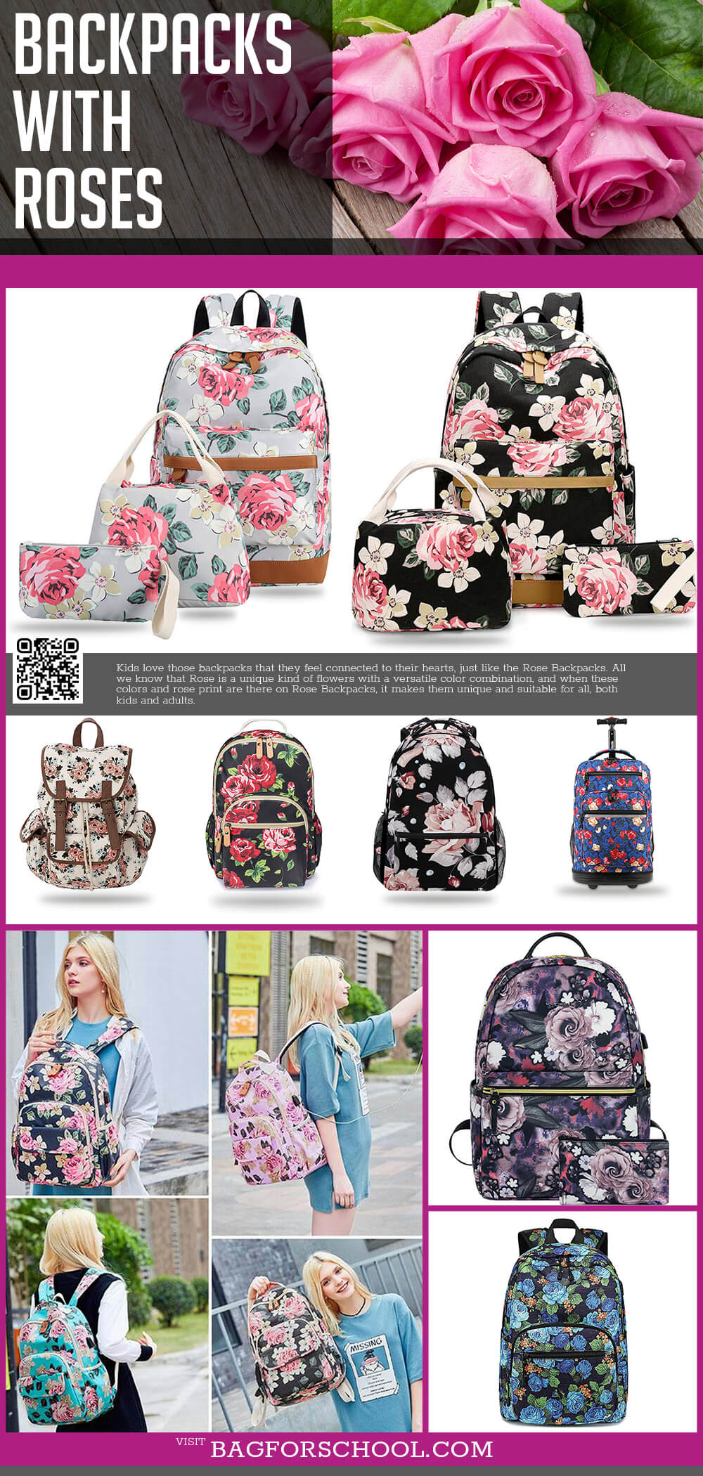 Backpacks with Roses