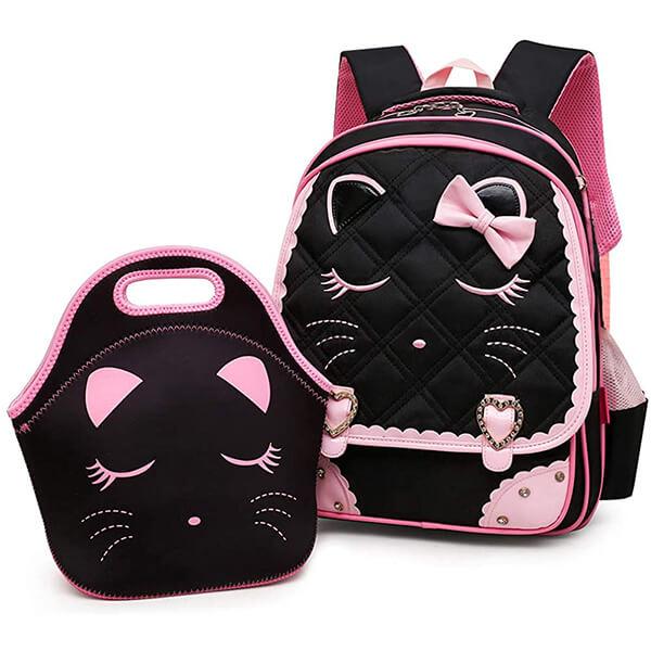 Diamond Bling Waterproof Cat Backpack with Handbag