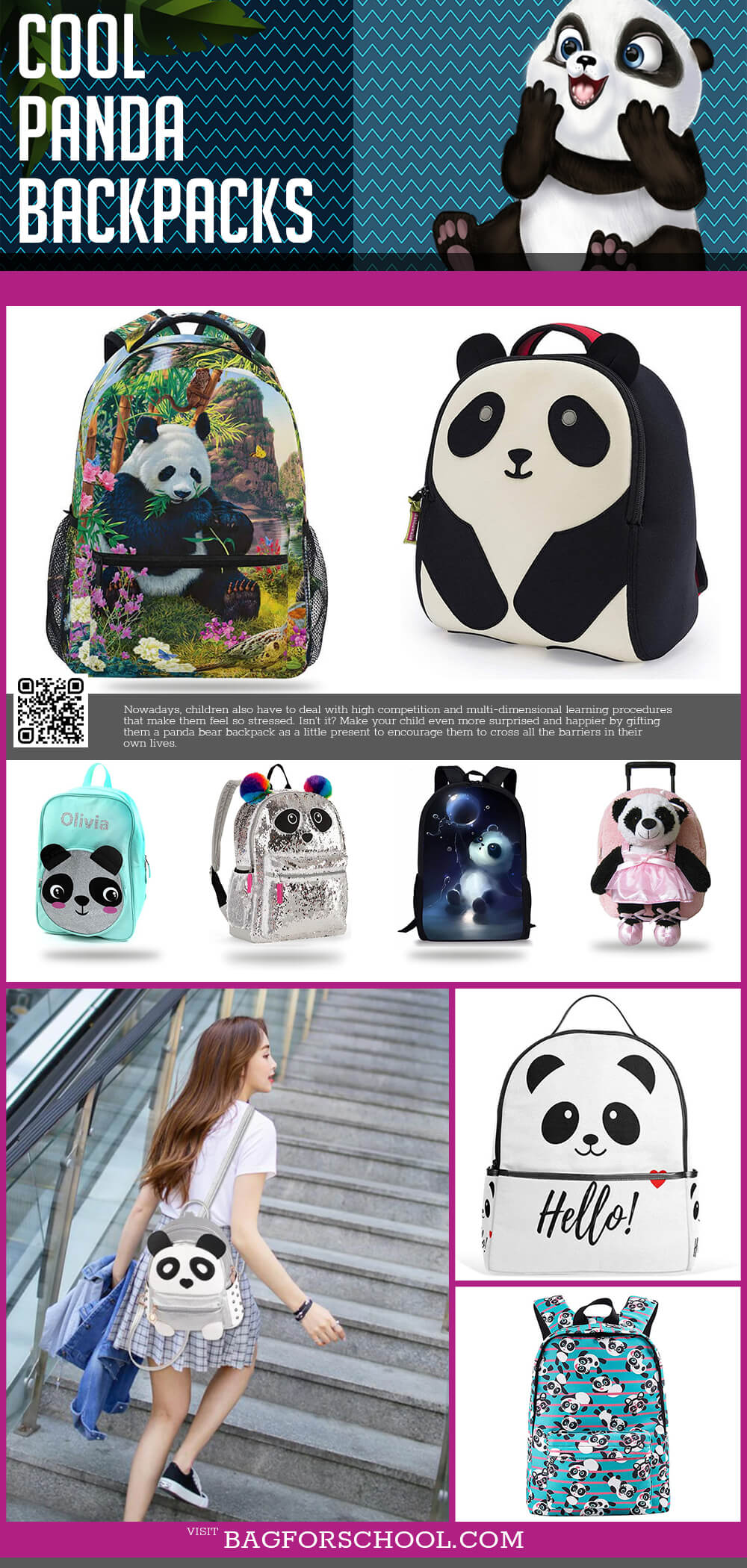 Panda Backpacks