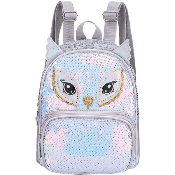 Cute Foxes Shape Sequin Backpack