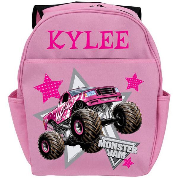 Pink color High Fabric Monster Jam Bookbag