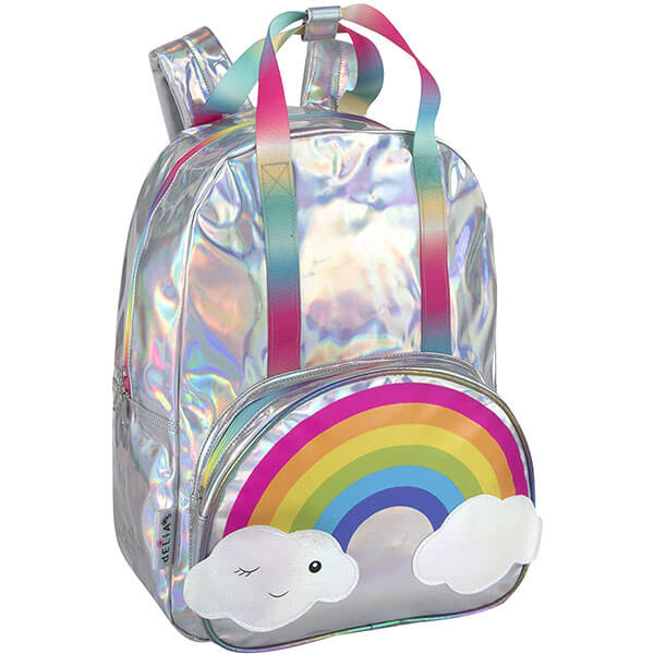 Rainbow Metallic Backpack for Middle School Kids