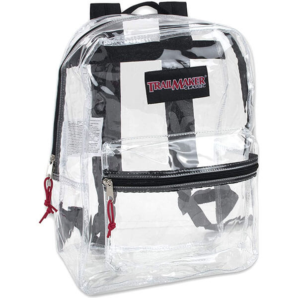 Reinforced Straps Sporting Clear Backpack