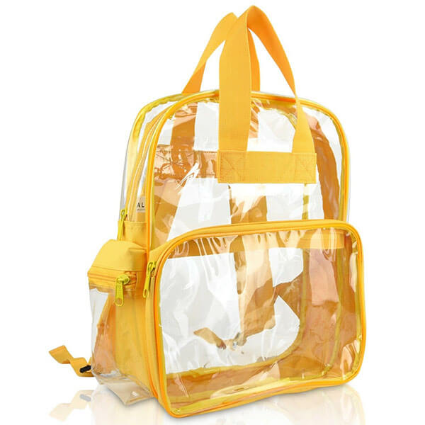 Gold Transparent PVC School Backpack