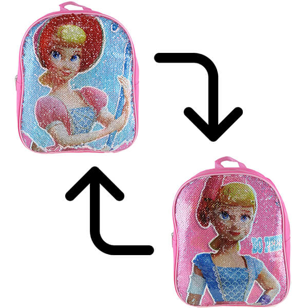 Bo Peep-Toys Story Polyester Sequin Backpack