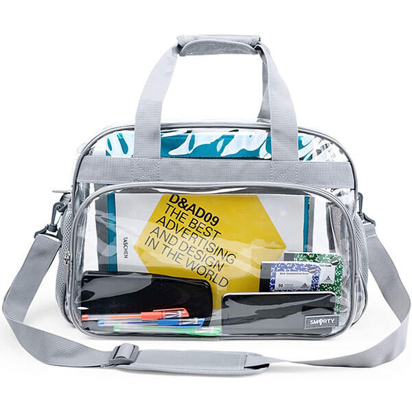 Transparent Airport Travel Messenger Bag