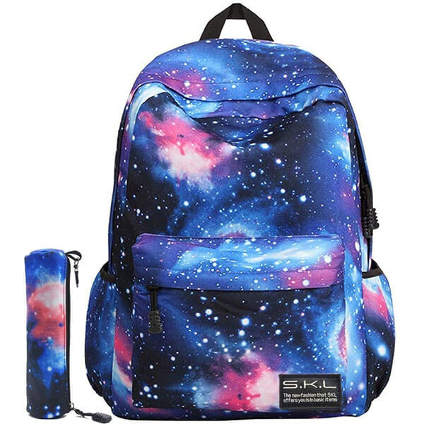 Galaxy Blue Laptop Backpack for Boys