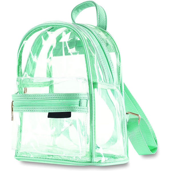 Mint Color Elementary Kids Clear Backpack