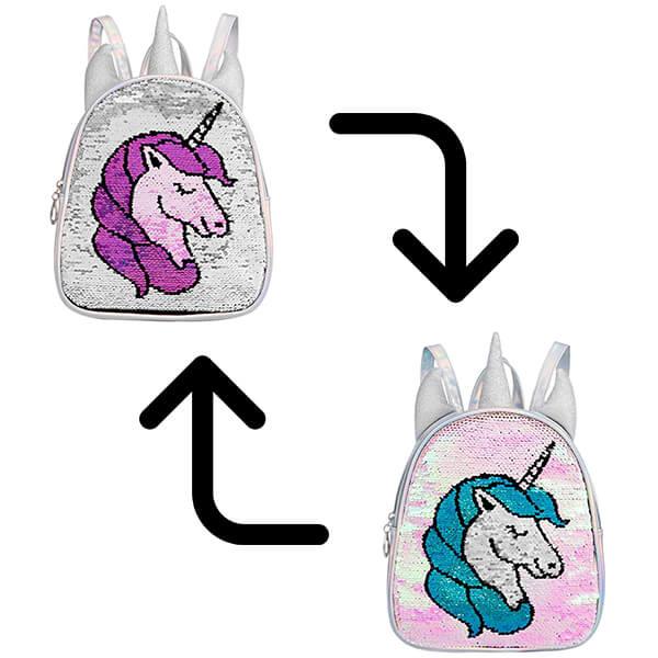 Unicorn Reversible Sequin Backpack