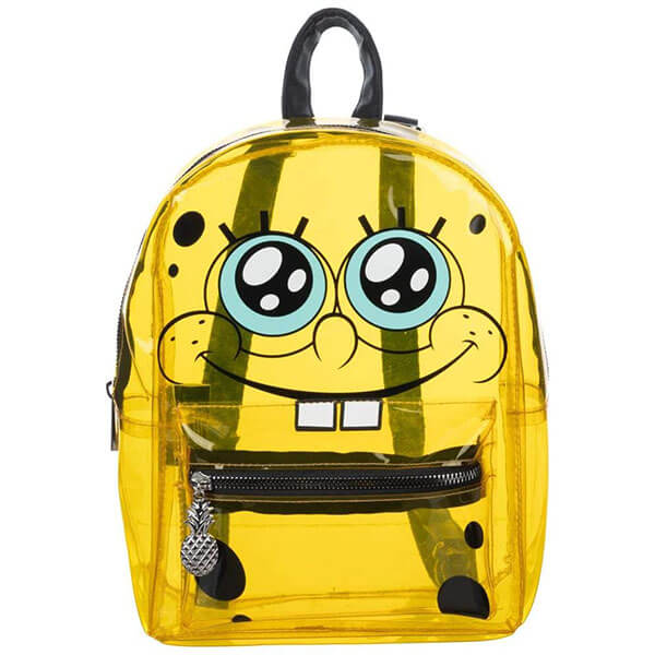 Spongebob Squarepants Yellow Clear Backpack
