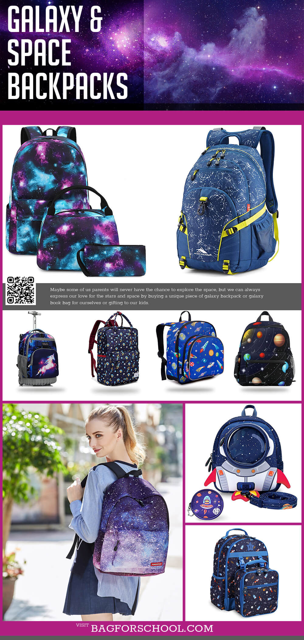 Inspiring Galaxy And Space Backpacks