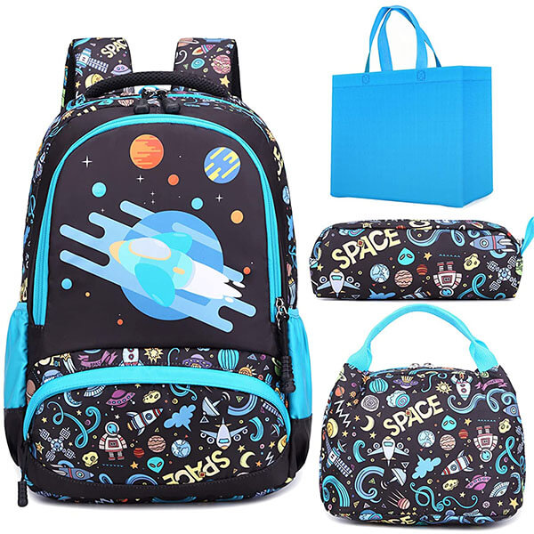 Lightweight Space Themed Backpack for Kids