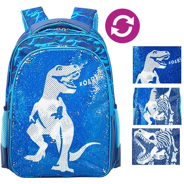 Dinosaur Roar Boys Reversible Sequin Backpack