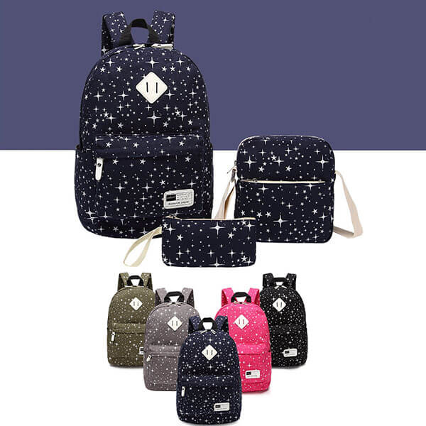 Starry Blue Draw for Dream Cotton Backpack