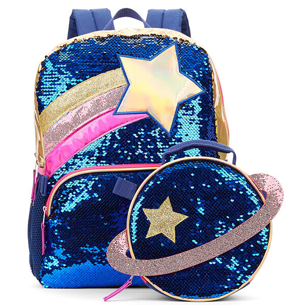Space Star Galaxy Sequin Backpack