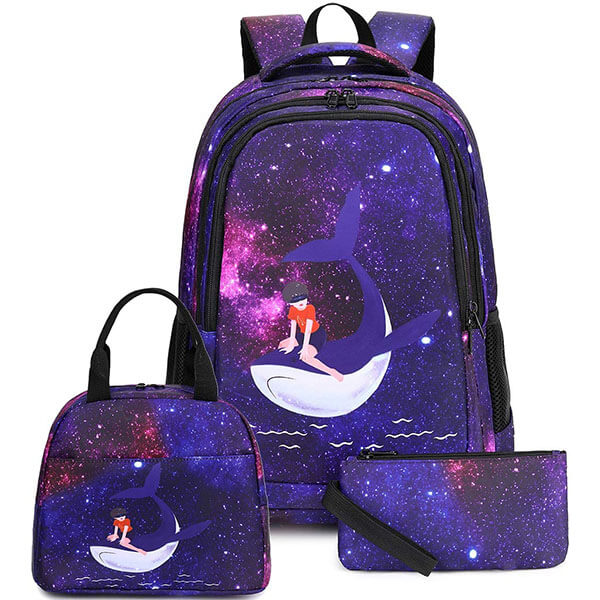 Dolphin Jumping From Shining Water Travel Backpack