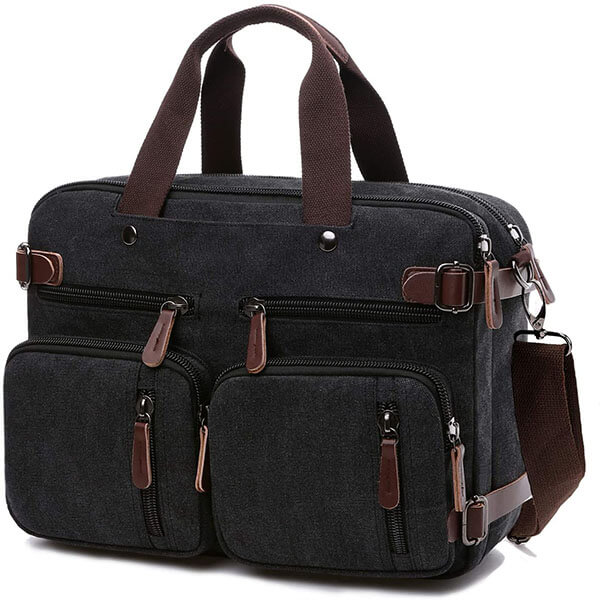 Multi-Pockets Convertible 17.3-Inch Messenger Bag