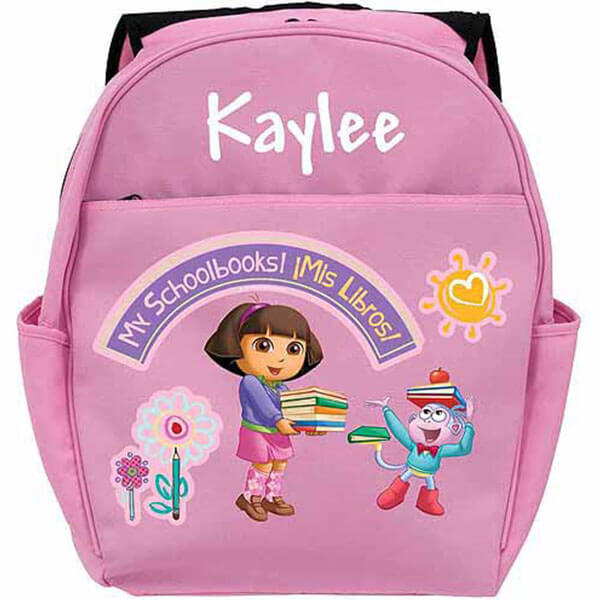 Personalized My Schoolbooks Dora Backpack