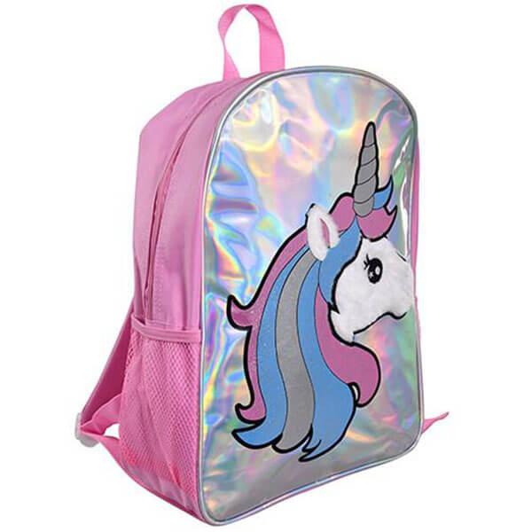 Pink Unicorn Holographic Book Bag