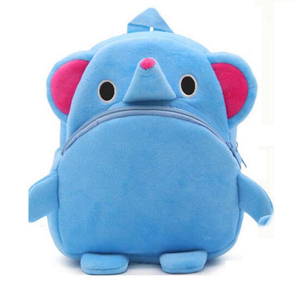Preschoolers Backpack with Cute Blue Elephant