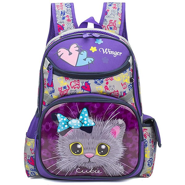 Princess Cat Face Design Kitty Backpack