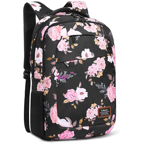 Water-resistant Oxford Cloth Floral Girls Backpack