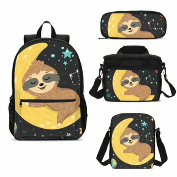 Bear Sleeping on the Moon Backpack for Youngsters