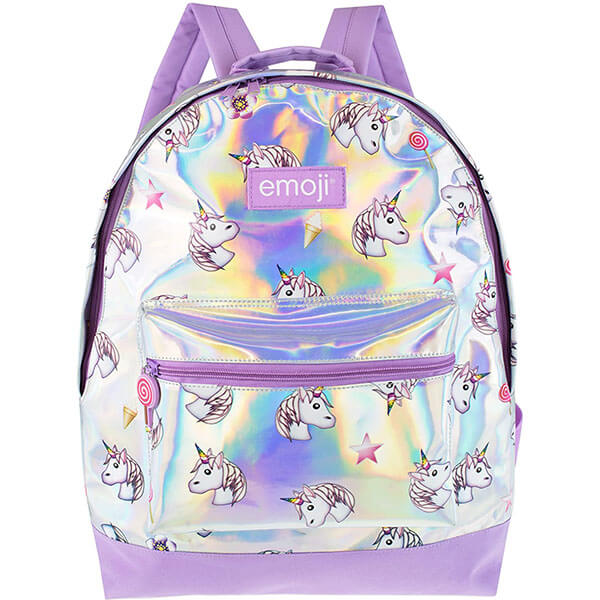 Iridescent Emoji Backpack for School