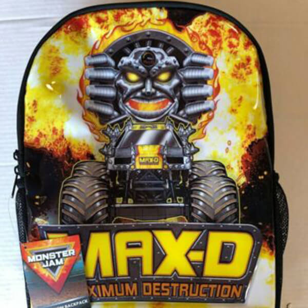 Max Destruction Monster Jam Bookbag