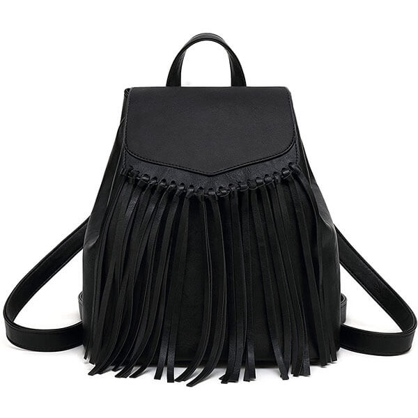 Tassel Design Vegan Leather Purse