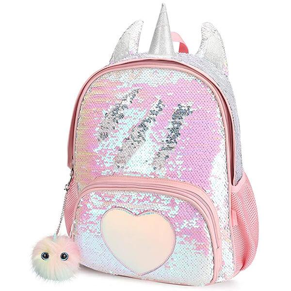 Unicorn Horn-Ears Reversible Sequin Backpack