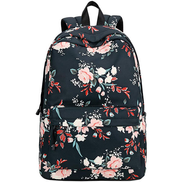 Casual Water-resistant Rose Backpack for Girls