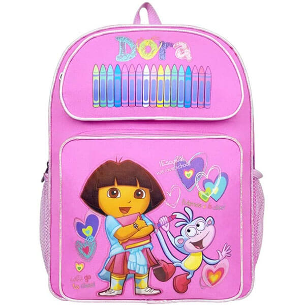 Color-Books Large Backpack With Dora and Boots
