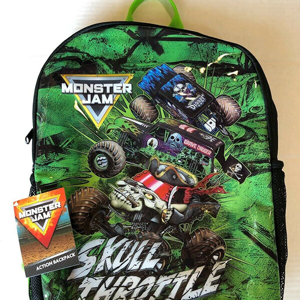 Double Headed Zipper Monster Jam Bookbag