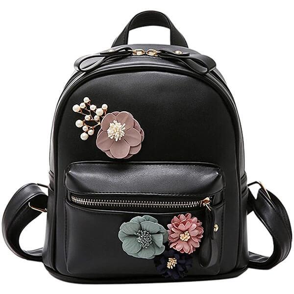 Handmade Boho Flower Teen Mini Backpack