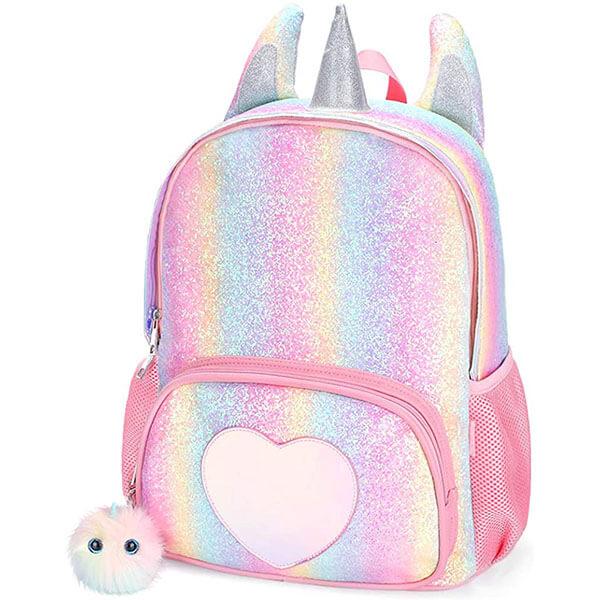 Rainbow Glitter Travel Backpack
