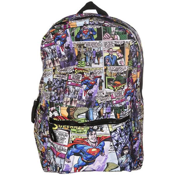 Comic Stripes Superhero School Backpack