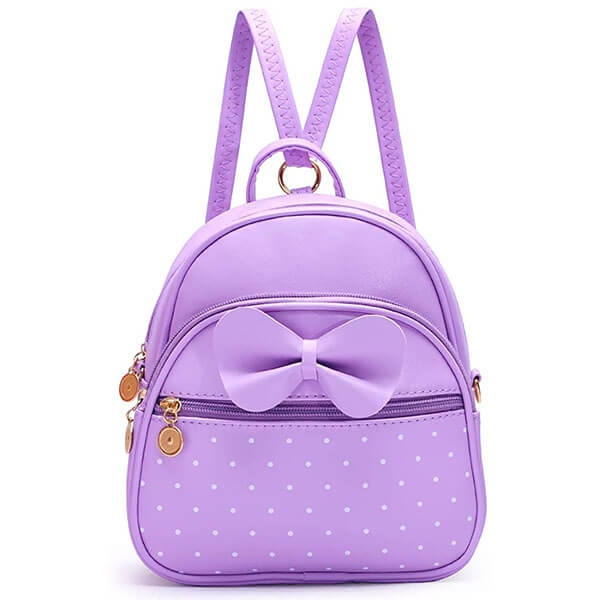 Polka Dot Cute Bowknot Mini Backpack