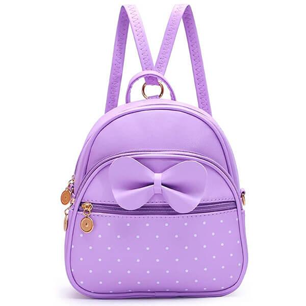 Polka Dot Cute Bowknot Mini Backpack