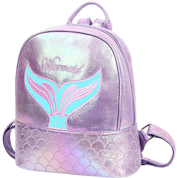 Shiny Mermaid Mini Holographic Book Bag